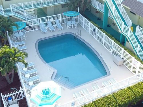 Resort pool in Melbourne Beach Florida resort